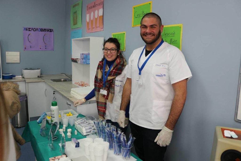Alumnos del grupo de practicas de higiene bucodental