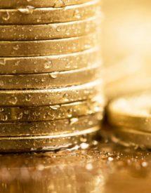 monedas con rocío