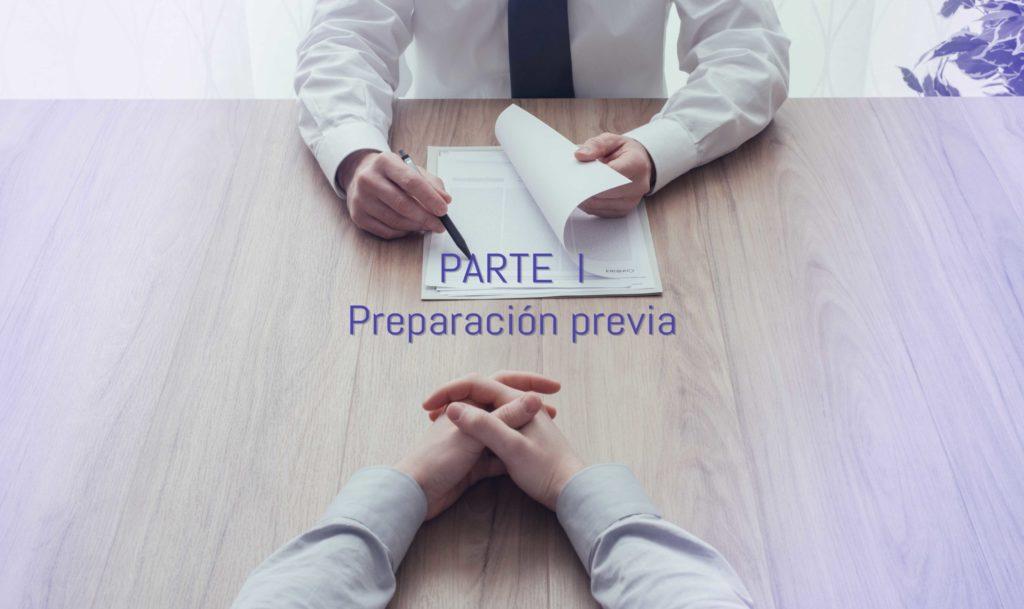 preparación previa a la entrevista